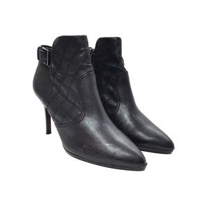 Tory Burch Orchard Black Quilted Leather Booties